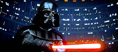 Lightsaber Digital Art - Darth Vader by Mitch Boyce