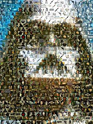 Darth Vader Mosaic Art Print by Paul Van Scott