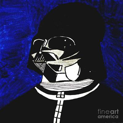 Drawing - Darth Vader-star Wars by Paulo Guimaraes