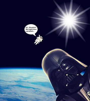 Photograph - Darth Vader Photobombs Nasa by Aurelio Zucco