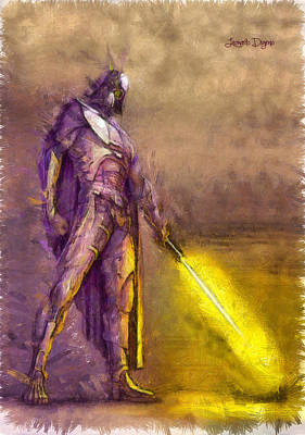 Sword Digital Art - Darth Vader Reloaded - Da by Leonardo Digenio