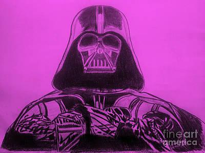 Darth Vader Rogue One - Purple Background Original