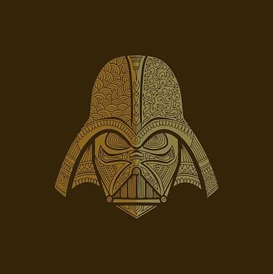 Film Mixed Media - Darth Vader - Star Wars Art - Brown 02 by Studio Grafiikka