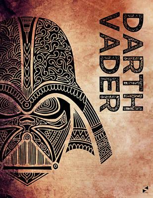 Darth Vader - Star Wars Art - Brown Art Print