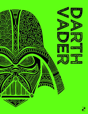 Film Mixed Media - Darth Vader - Star Wars Art - Green by Studio Grafiikka