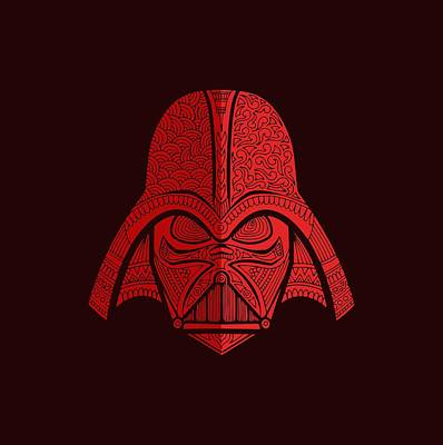 Mixed Media - Darth Vader - Star Wars Art - Red 02 by Studio Grafiikka