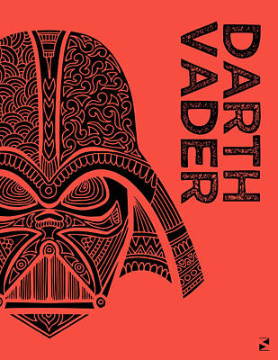 Royalty-Free and Rights-Managed Images - Darth Vader - Star Wars Art - Red by Studio Grafiikka