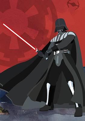 Halloween Digital Art - Darth Vader Star Wars Character Quotes Poster by Lab No 4