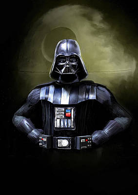Movie Star Painting - Darth Vader Star Wars  by Michael Greenaway