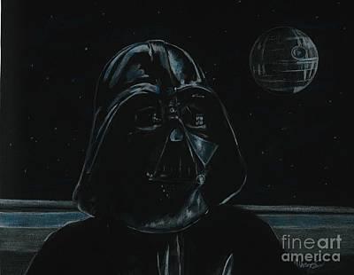 Drawing - Darth Vader Study by Meagan  Visser