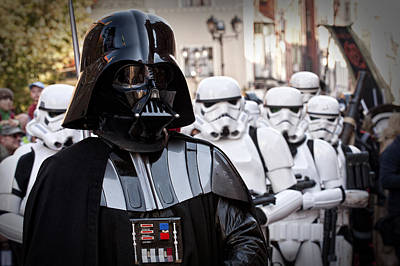 Photograph - Darth Vader With  Imperial Stormtroopers by Waldek Dabrowski