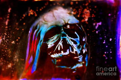 Justin Moore Drawing - Darth Vader's Melted Helmet by Justin Moore