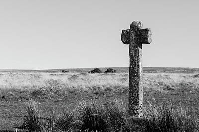 Photograph - Dartmoor Cross by Helen Northcott
