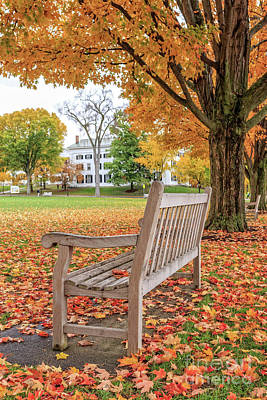 Vermont Photograph - Dartmouth Hanover Green In Autumn by Edward Fielding