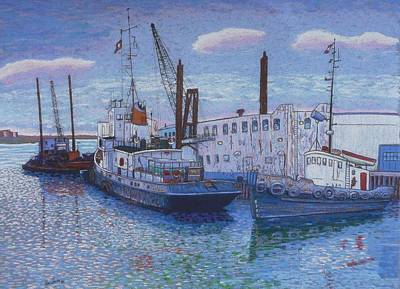 Dartmouth Marine Slips Art Print by Rae  Smith