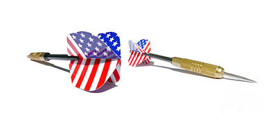 U.s.a. Flag Photograph - Darts by Jorgo Photography - Wall Art Gallery