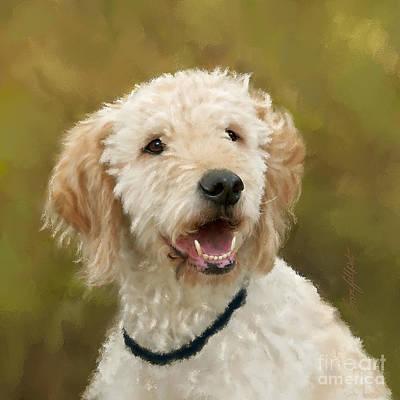 Funny Dog Digital Art - Dasha by Bon Fillpot