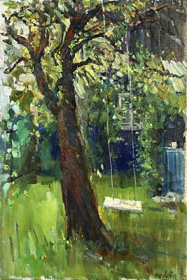 Painting - Dasha's Swings by Juliya Zhukova