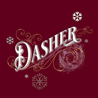 Digital Art - Dasher by Gina Harrison