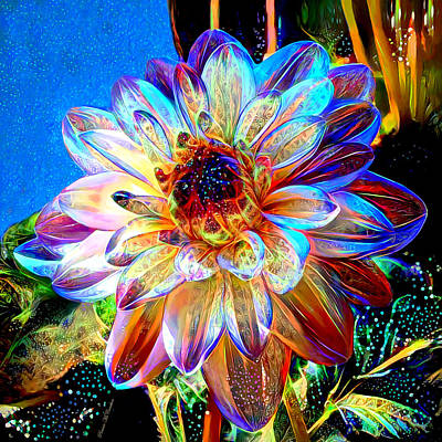 Digital Art - Dashing Dahlia by Pennie McCracken