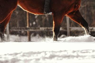Dashing Through The Snow Print by JAMART Photography