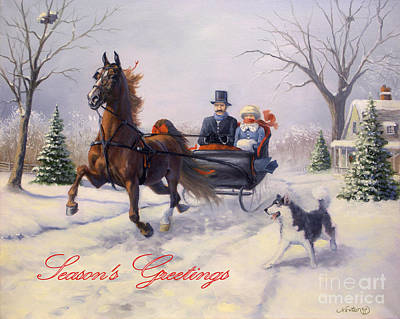 Dashing Through The Snow Art Print by Jeanne Newton Schoborg