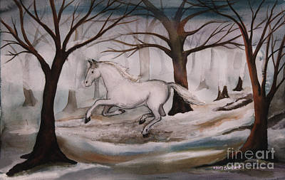 Painting - Dashing Thru The Snow by Cori Caputo