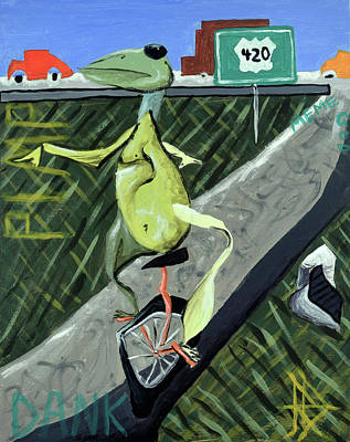 Painting - Dat Boi From Hwy 420 by Ryan Demaree
