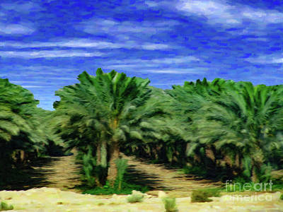 Digital Art - Date Palms Jordan by Donna L Munro