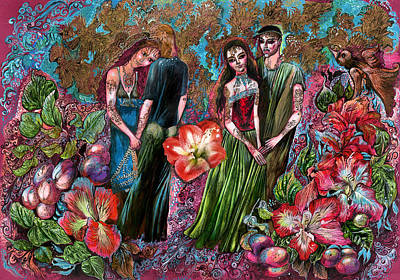 Painting - Dating In Flower Valley by Maya Gusarina