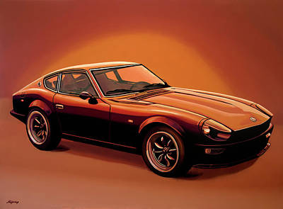 Z Painting - Datsun 240z 1970 Painting by Paul Meijering