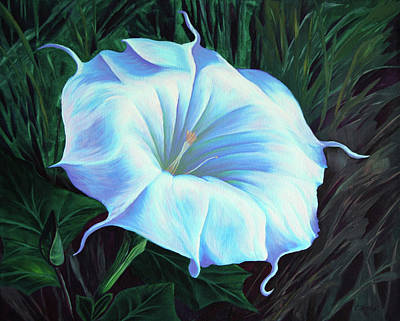 Painting - Datura Flower by Cheryl Fecht