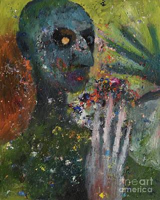 Painting - Datura by Oleg Konin