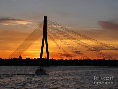 Photograph - Daugava Sunset. Riga. Latvia by Ausra Huntington nee Paulauskaite