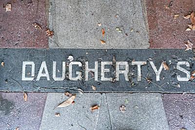 Photograph - Daughertys Sidewalk Inlay by Sharon Popek