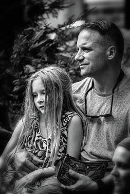 Photograph - Father And Daughter Time by John Haldane