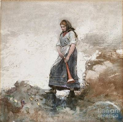 1881 Painting - Daughter Of The Coast Guard by Celestial Images