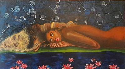 Painting - Daughter Of The Cosmos by Phyllis Anne Taylor Pannet Art Studio