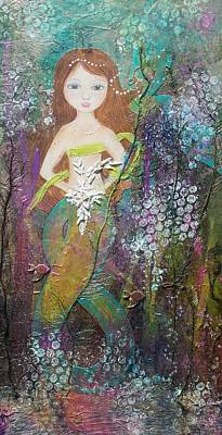Mixed Media - Daughter Of The Sea by Virginia Coyle