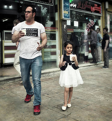 Photograph - Daughters And Ice-cream by Michel Verhoef