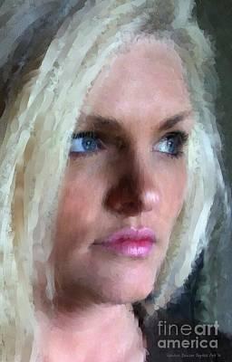 Digital Art - Daughter's Portrait by Sandra Bauser Digital Art