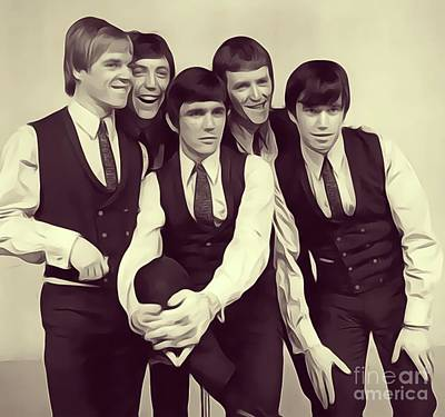 Rock And Roll Royalty-Free and Rights-Managed Images - Dave Clark Five by John Springfield