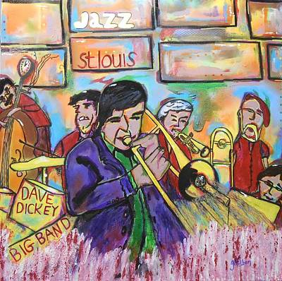 Painting - Dave Dickey Big Band by Gh FiLben