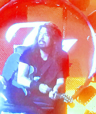 Photograph - Dave Grohl In Concert by Cindy Lee Longhini