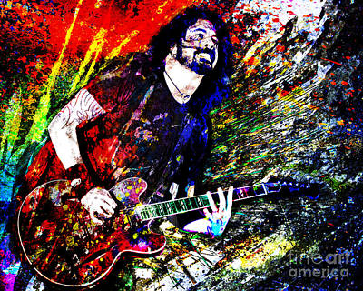 Rock Art Mixed Media - Dave Grohl Art  by Ryan Rock Artist