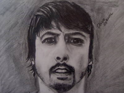 Dave Drawing - Dave Grohl- Close Up by Ariana Vargas
