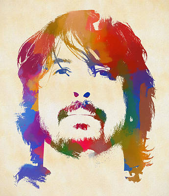 Music Paintings - Dave Grohl by Dan Sproul