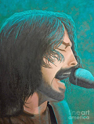 Concert Images Painting - Dave Grohl Of The Foo Fighters by Cindy Lee Longhini