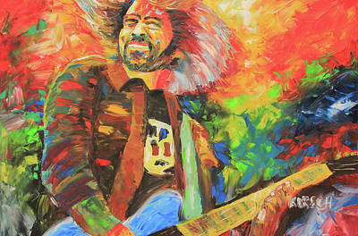 Foo Fighters Painting - Dave Grohl by Robert Kirsch