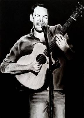 Dave Drawing - Dave Matthew by Benjamin Gassmann